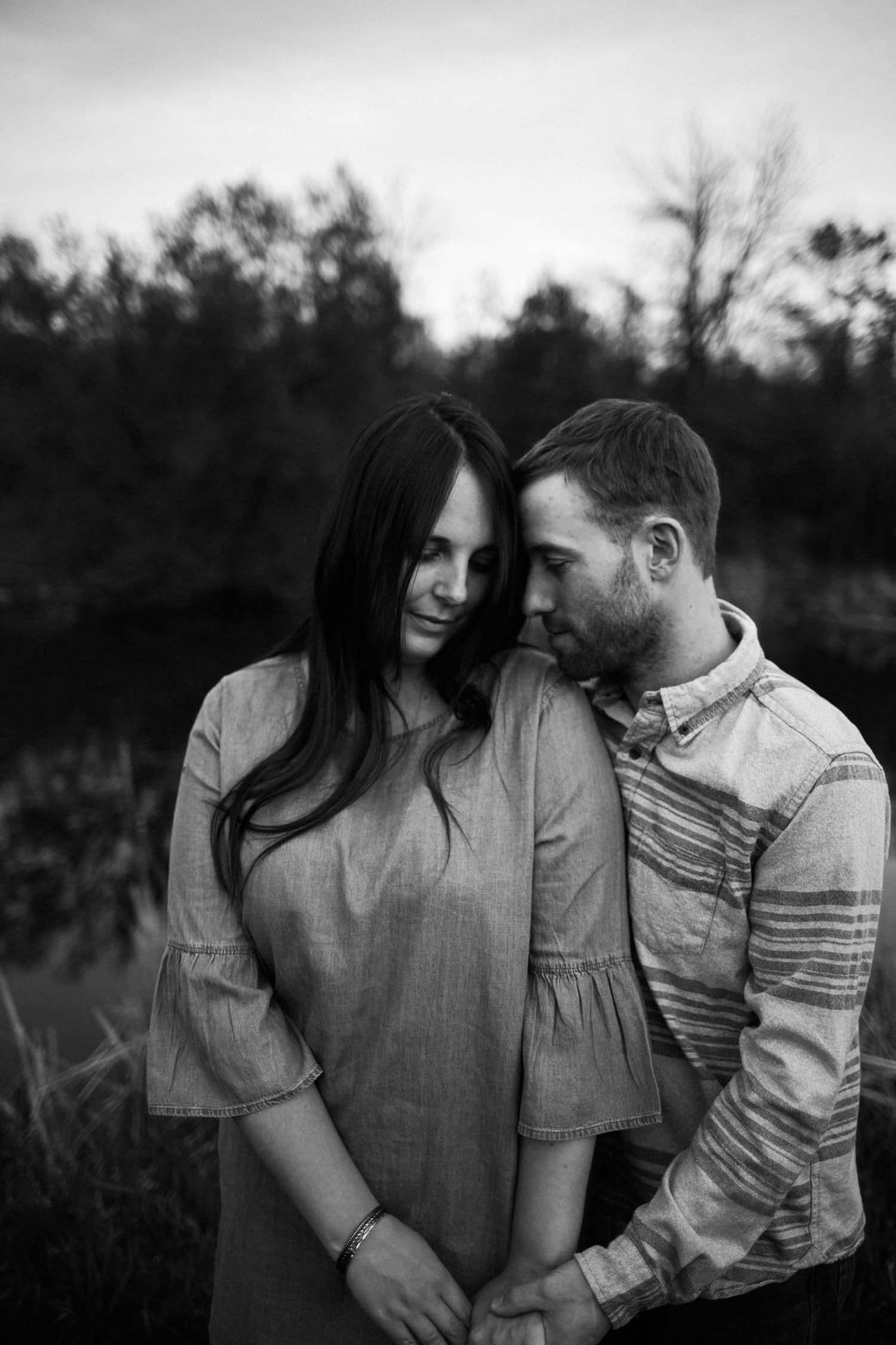 black and white engagement portrait - ottawa wedding photographer - carley teresa photography