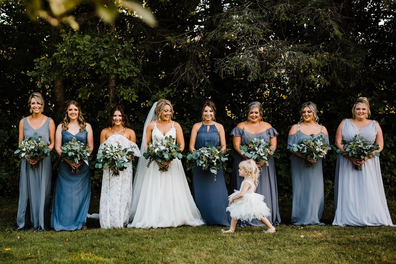 flower girl photo bombs group photo - ottawa wedding photographer - carley teresa photography