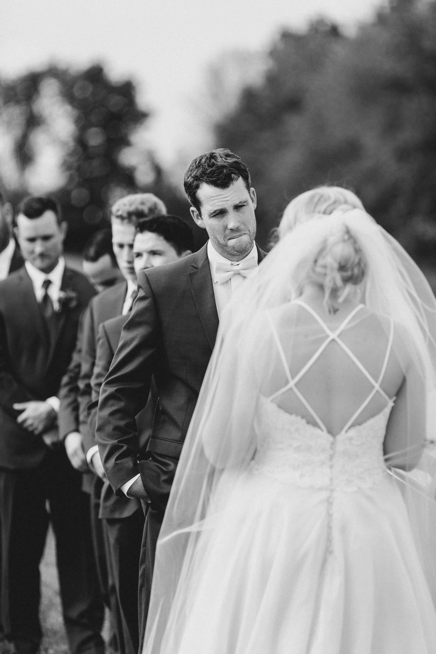 groom cries during wedding vows - ottawa wedding photographer - carley teresa photography