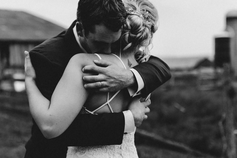 black and white portrait of a hug - ottawa wedding photographer - carley teresa photography