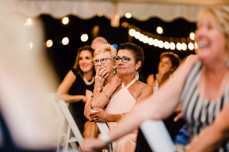 family reacts during wedding speeches - ottawa wedding photographer - carley teresa photography