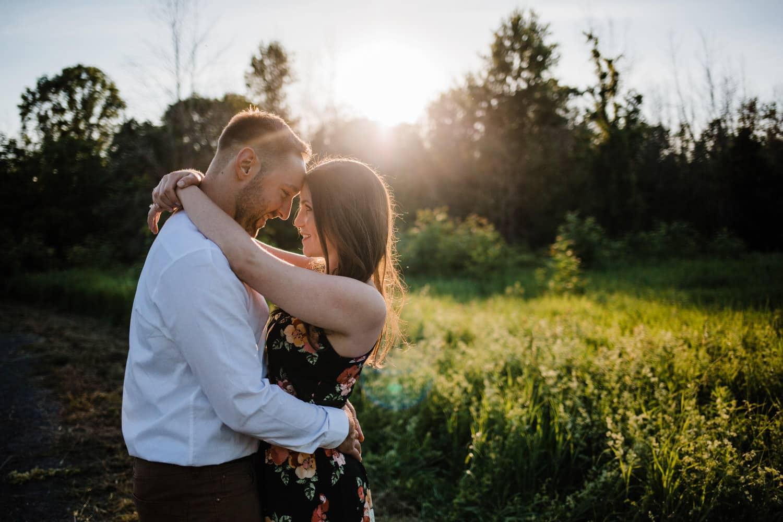 sunset engagement photo - ottawa wedding photographer - carley teresa photography
