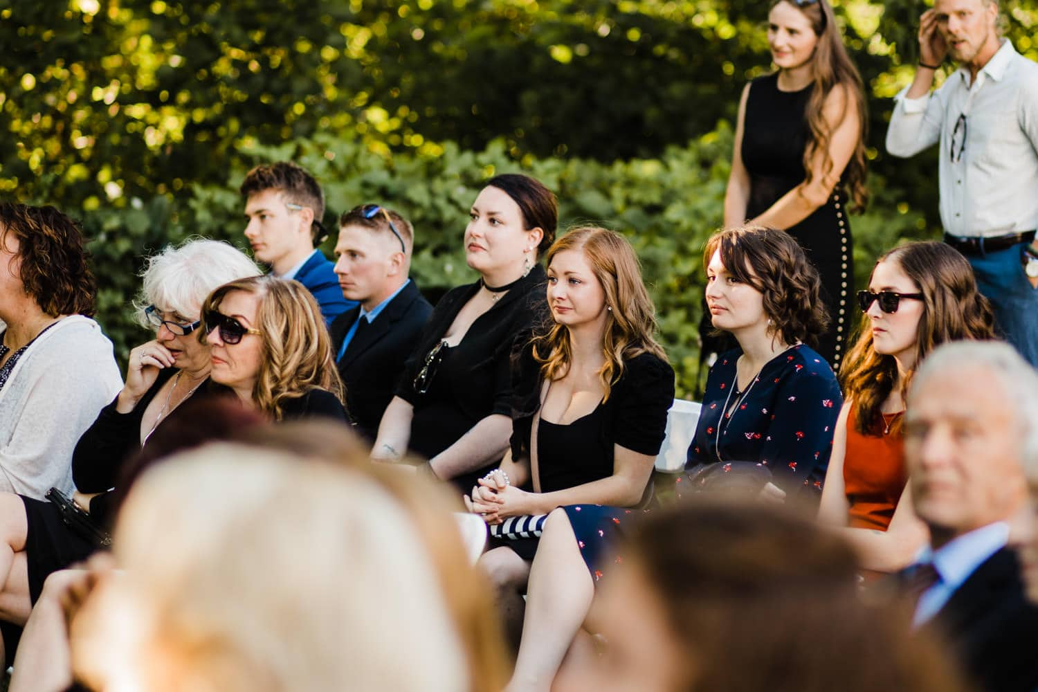 guests cry during wedding ceremony - ottawa wedding photographer - carley teresa photography