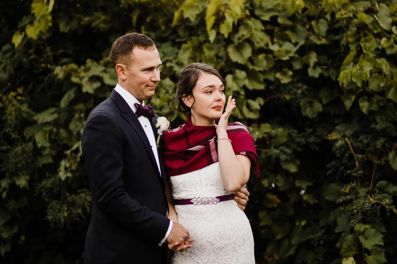 bride gets emotional listening to speeches - ottawa wedding photographer - carley teresa photography