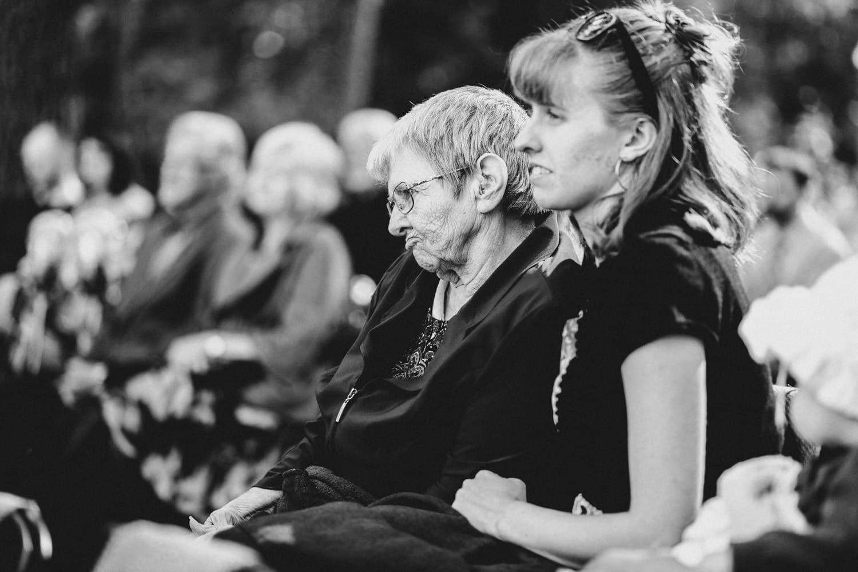 grandmother watches during wedding ceremony - ottawa wedding photographer - carley teresa photography