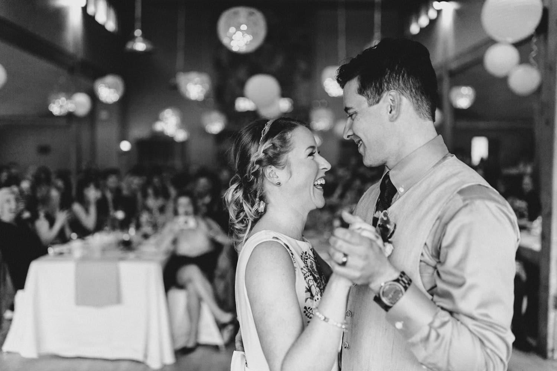 bride and groom share first dance - ottawa wedding photographer - carley teresa photography