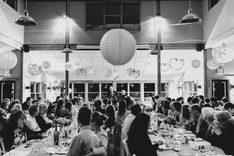 guests listen to speeches - ottawa wedding photographer - carley teresa photography