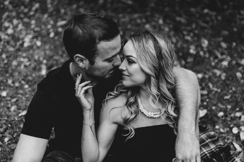 black and white closeup of couple - ottawa wedding photographer - carley teresa photography