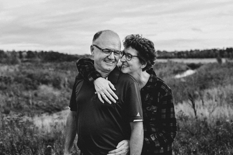 black and white photo of married couple - ottawa wedding photographer - carley teresa photography