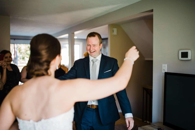 bride sees her brother on wedding day - ottawa wedding photographer - carley teresa photography