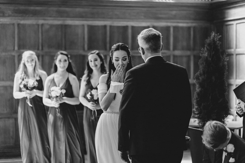 bride gets emotional reading vows - ottawa wedding photographer - carley teresa photography
