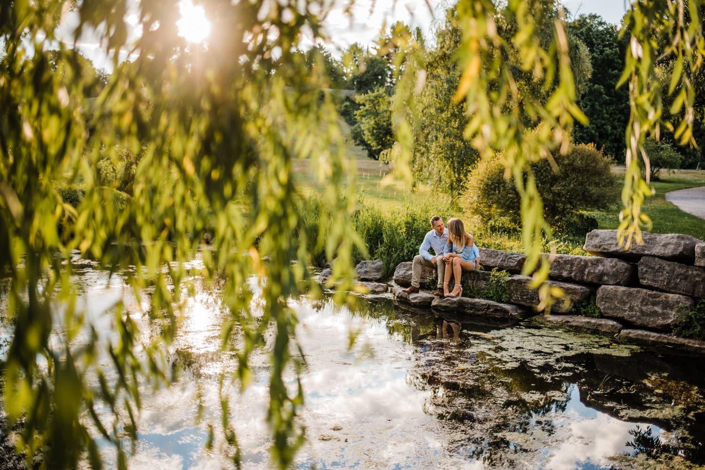 ottawa arboretum golden hour engagement session
