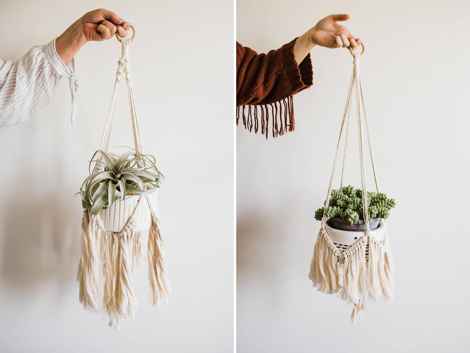 small business brand photography - plants and macrame
