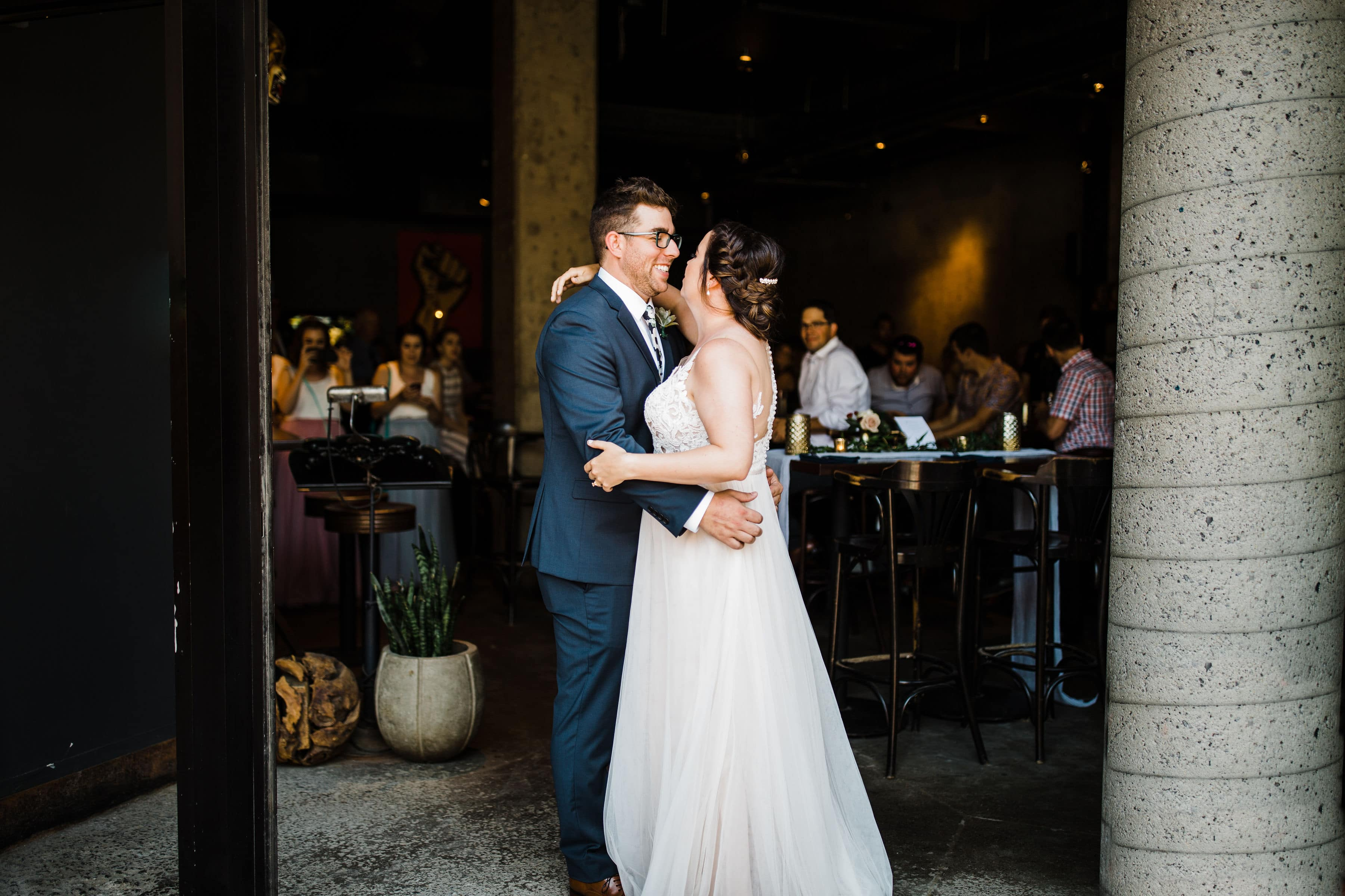 bride and groom's first dance - downtown ottawa wedding el camino