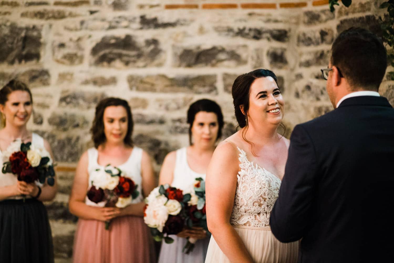 bride reacts to vows - downtown ottawa wedding