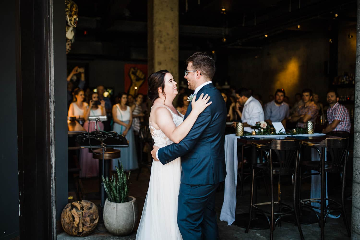 bride and groom's first dance at el camino - downtown ottawa wedding - carley teresa photography