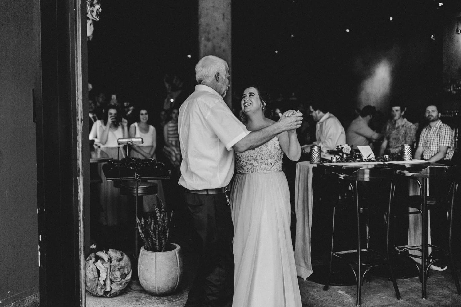 bride dances with her father at el camino - downtown ottawa wedding