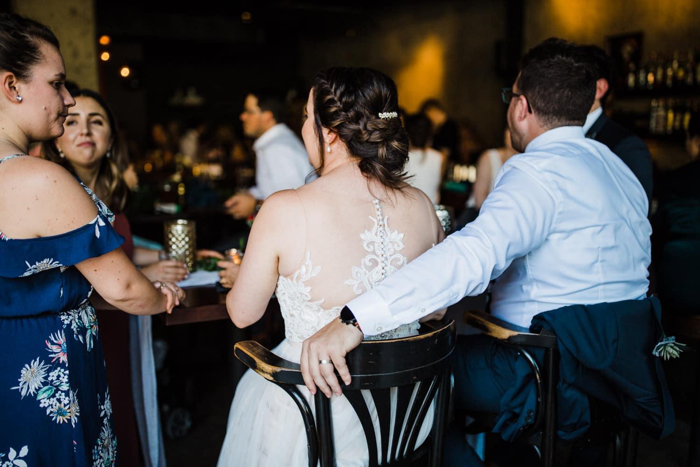 guest mingle at downtown ottawa wedding