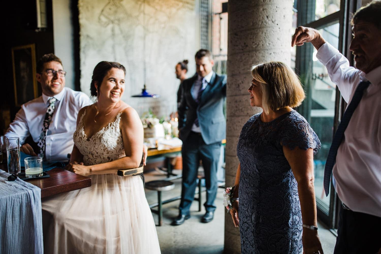 groom's parents give a speech at el camino wedding