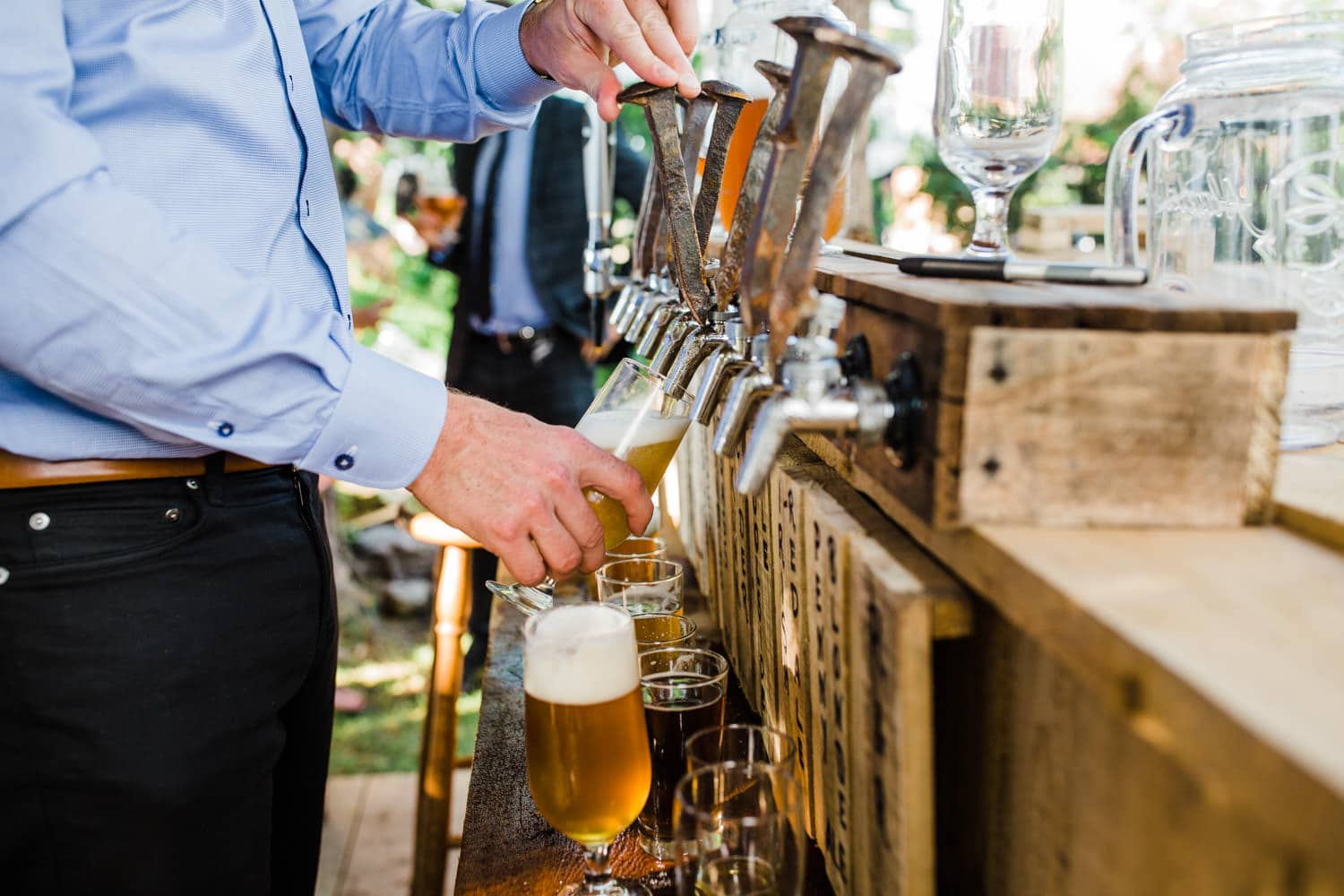 homemade bar - ottawa backyard wedding