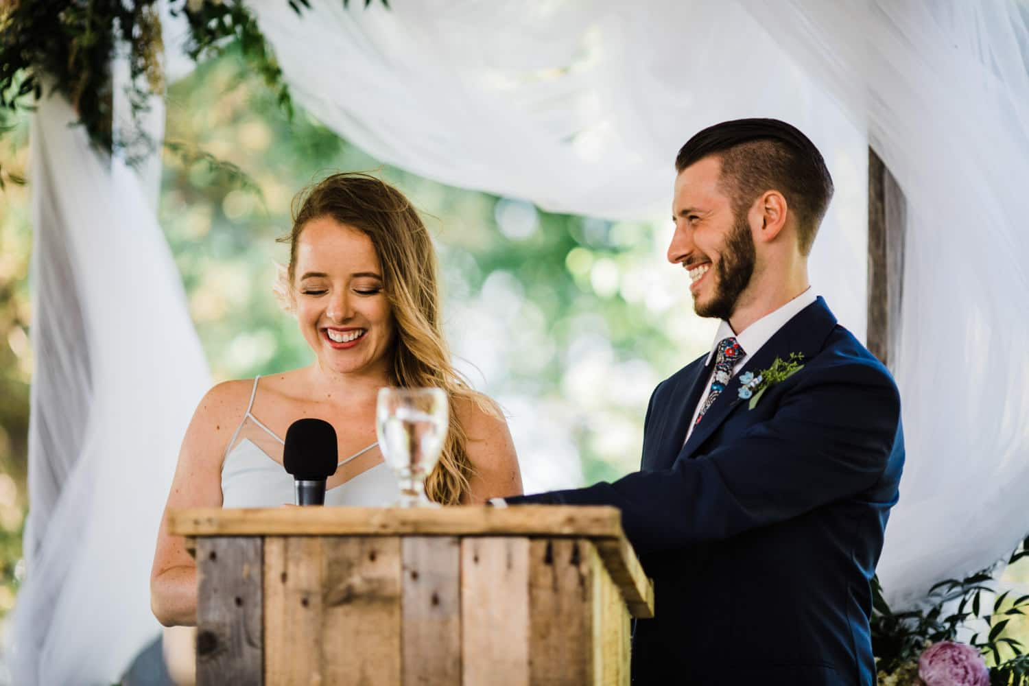 speeches during tent wedding reception