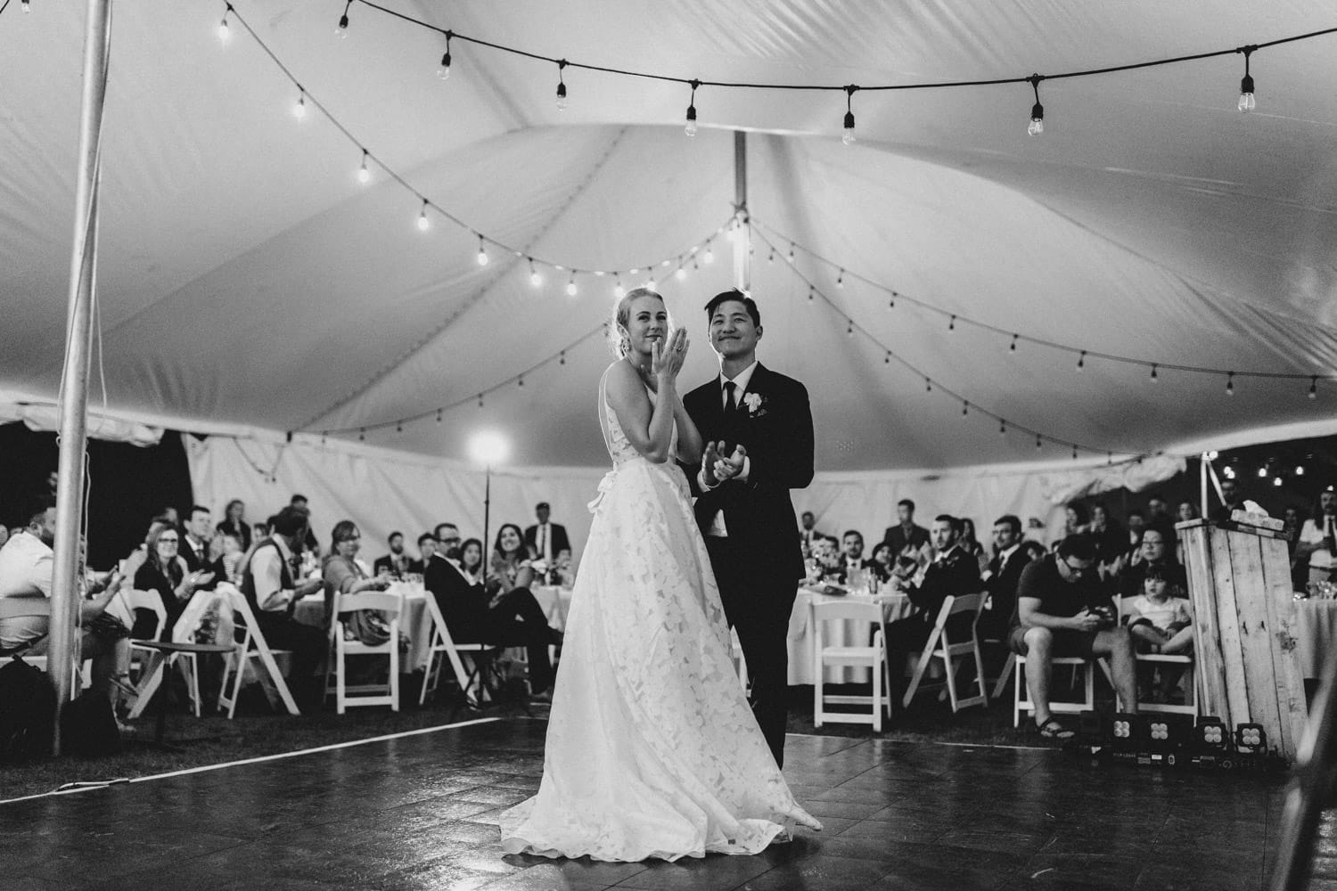 bride and groom first dance - carley teresa photography - ottawa backyard wedding