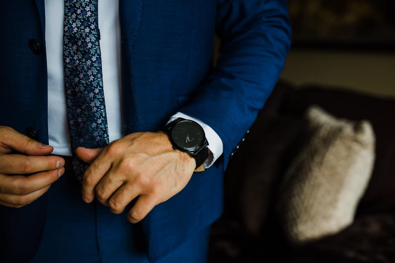 groom details - black watch
