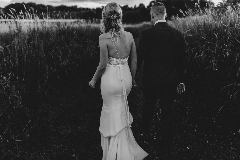 back of bridal dress details - carley teresa photography - summer strathmere wedding