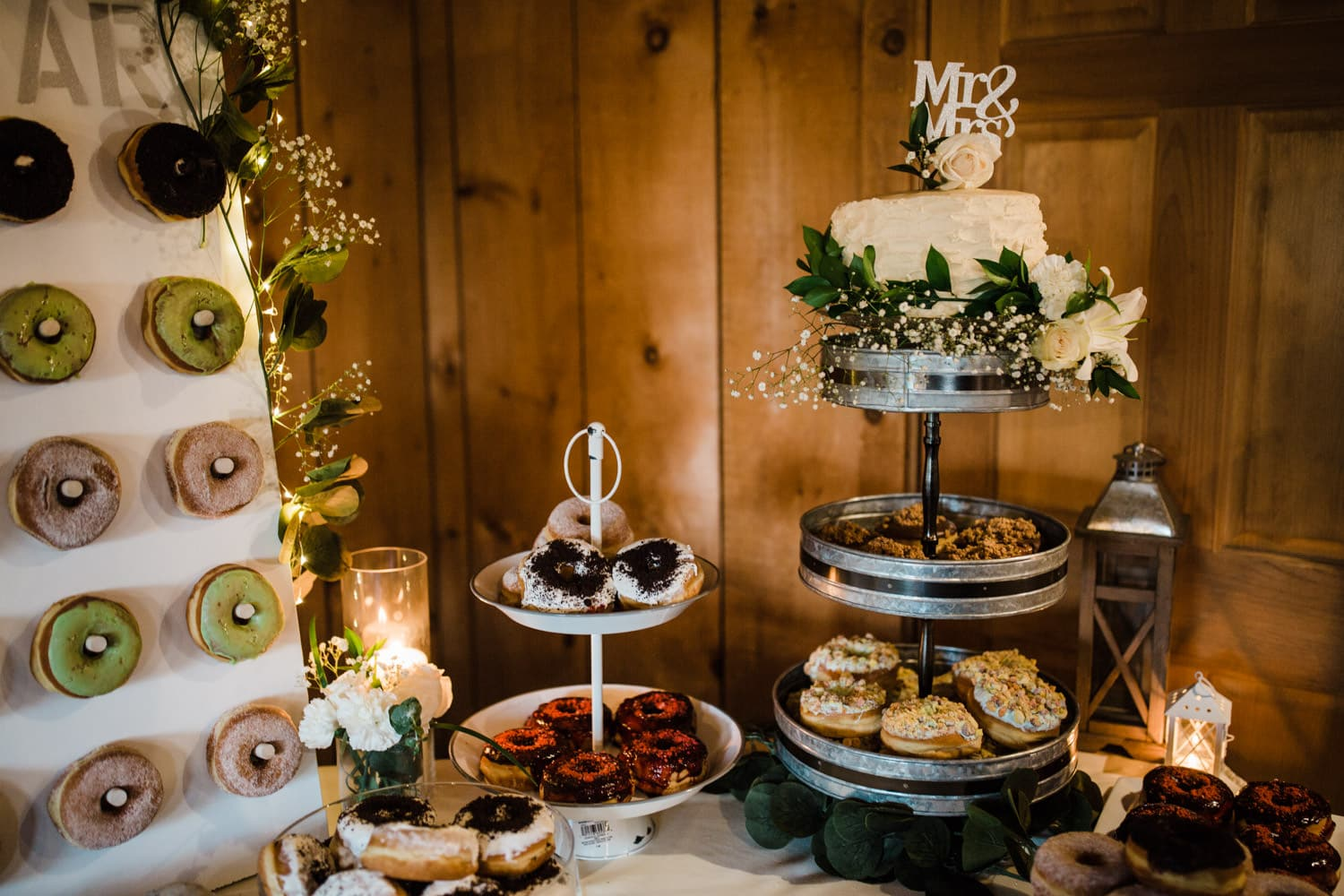 cake and donut table details - summer strathmere wedding