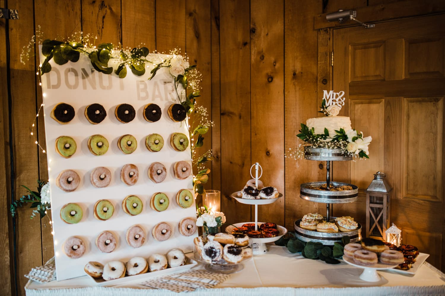 cake and donut table - summer strathmere wedding