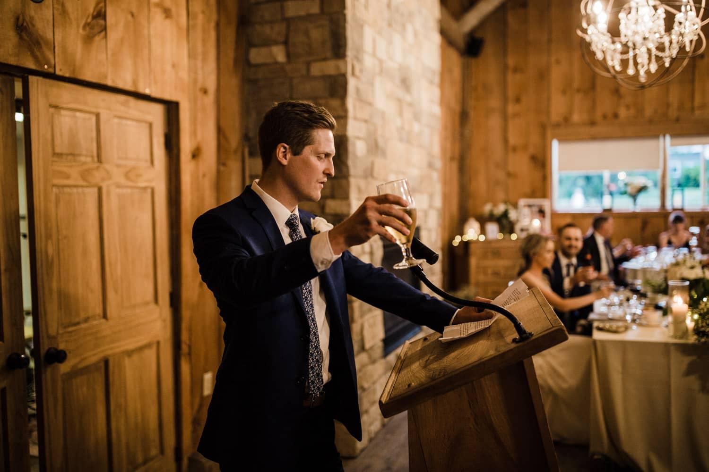 best man speech during dinner