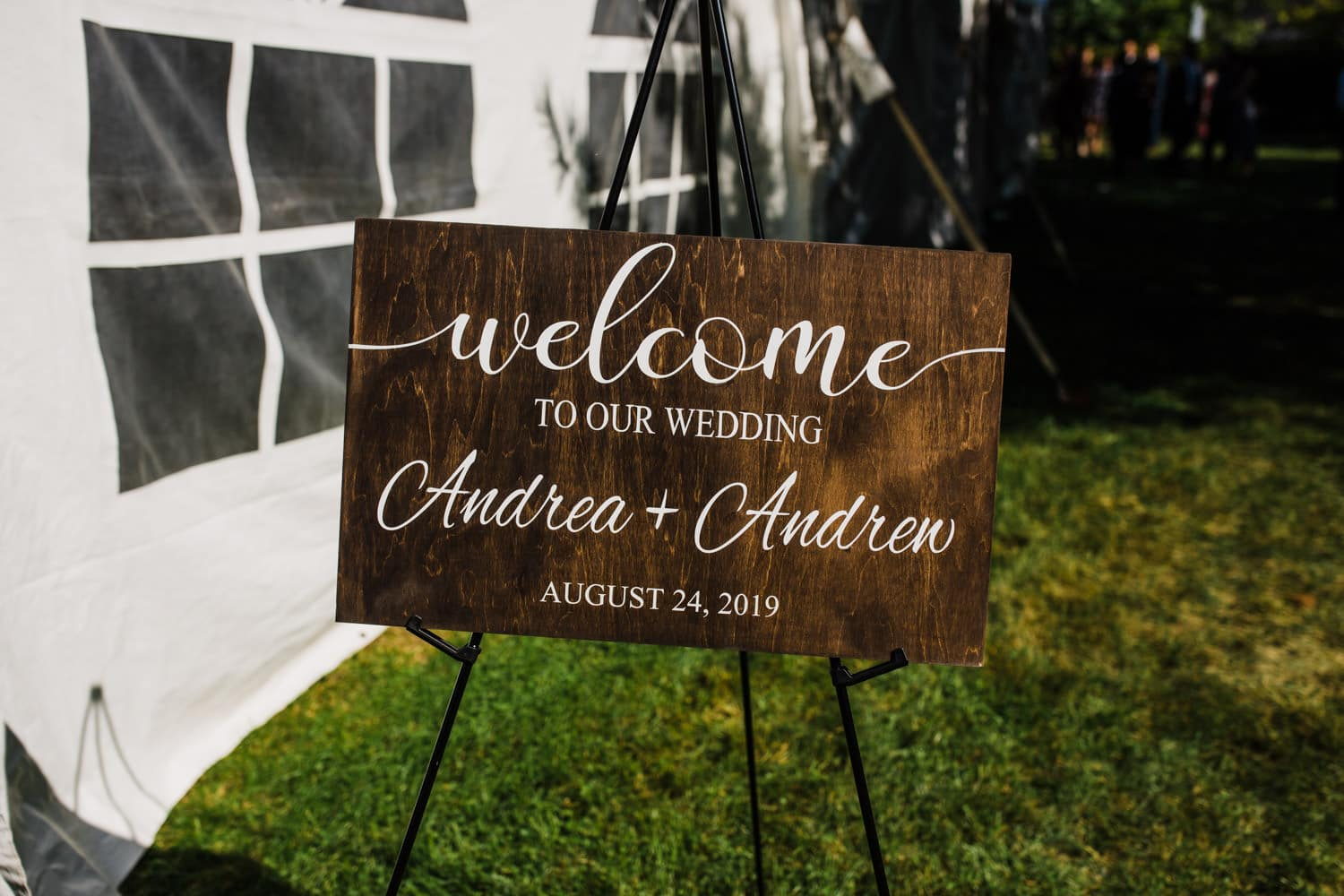 welcome to our wedding sign - outdoor wedding