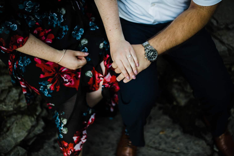 engaged couple hold hands - ottawa engagement photographer