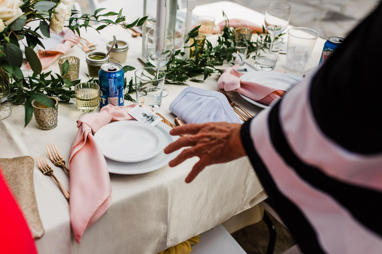 outdoor table decor for wedding