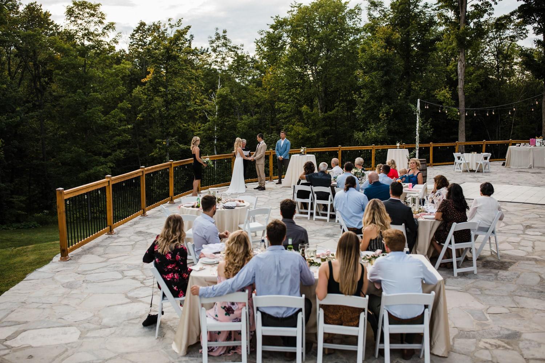 outdoor summer wedding on stone patio - ottawa wedding photographer
