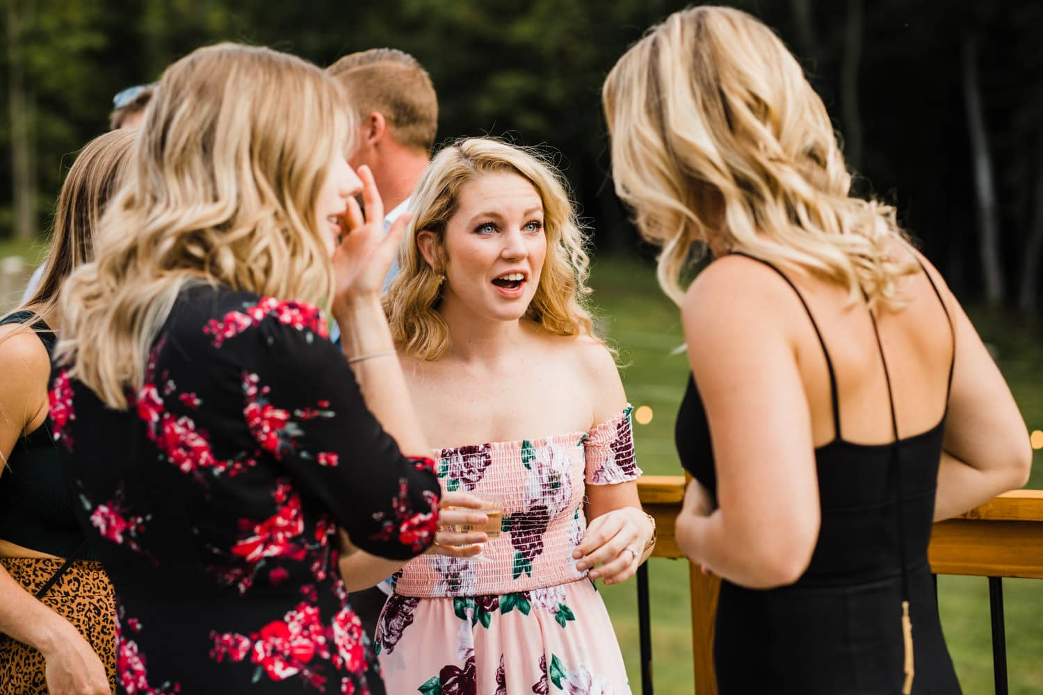 guests react after outdoor wedding - ottawa