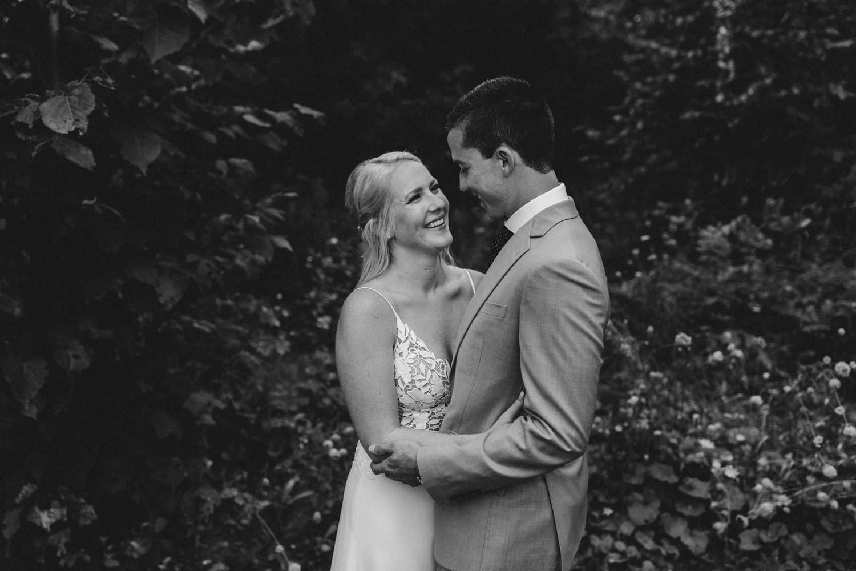 black and white photo of bride and groom - ottawa wedding photographer