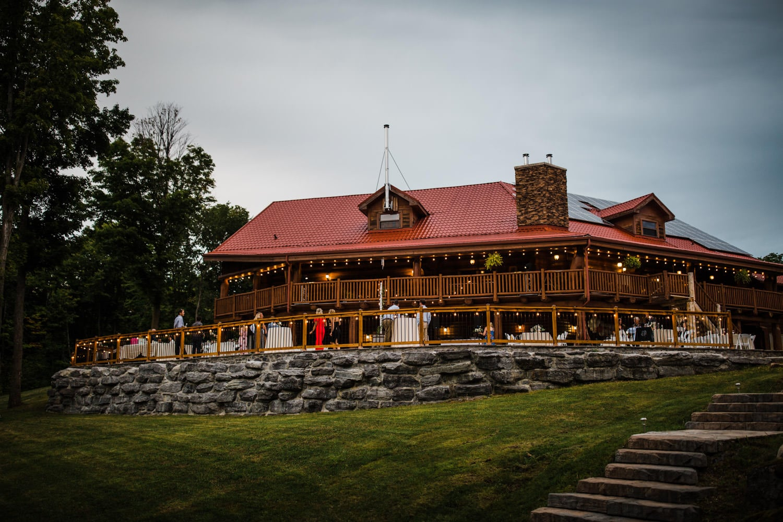 outdoor wedding venue - stone patio and twinkle lights - ottawa wedding photographer