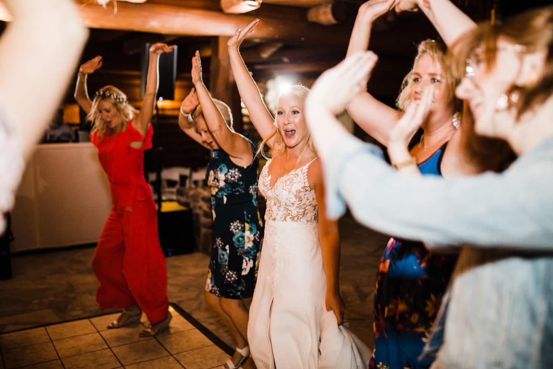 guests dance on outdoor dance floor
