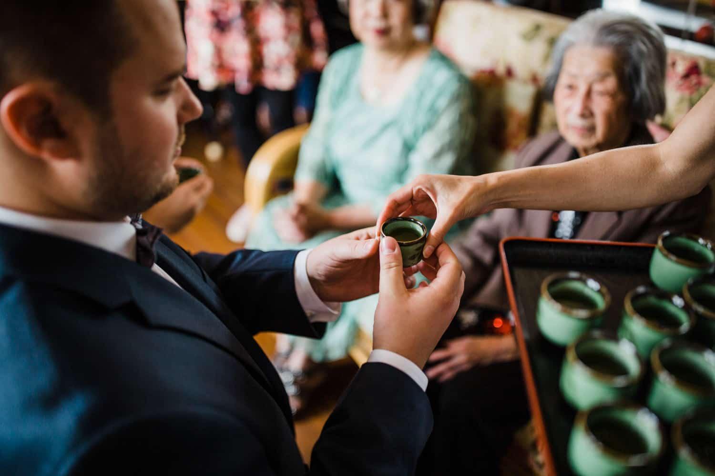 chinese tea ceremony - small backyard wedding ottawa