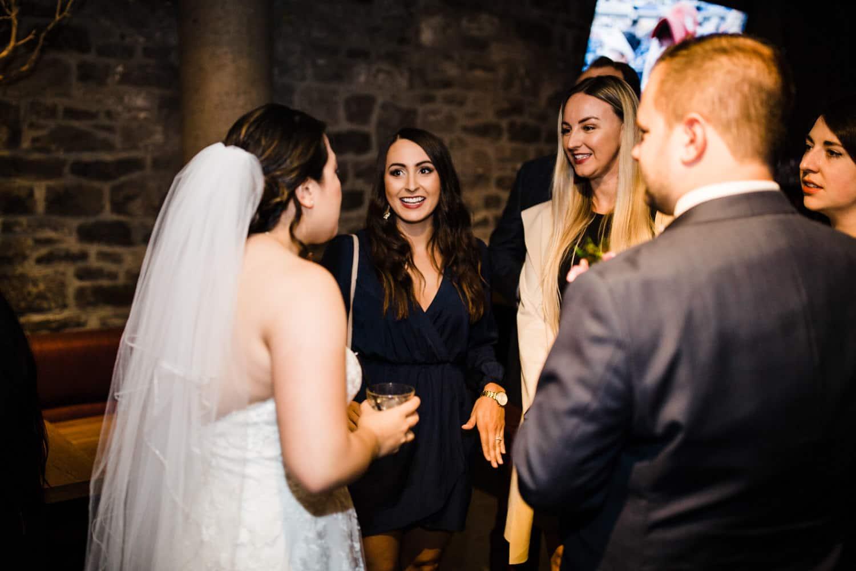 guests mingle - sidedoor wedding reception