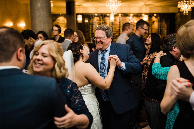 guests dance at sidedoor wedding reception ottawa