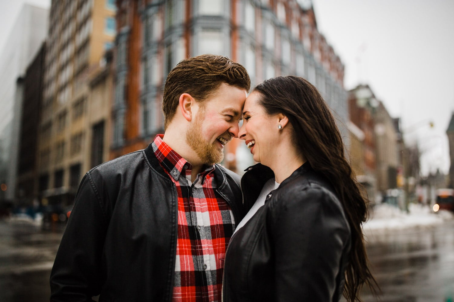 couple laugh together downtown ottawa