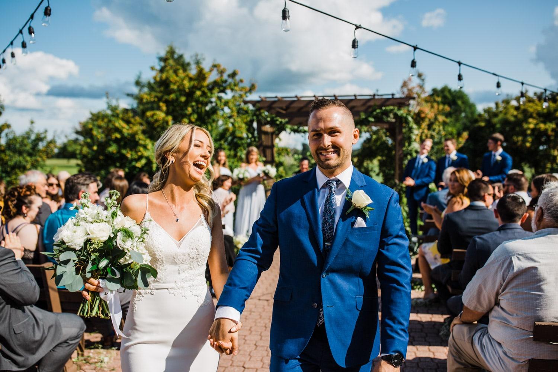 just married exit - ottawa wedding photographer