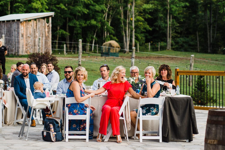 guests react to surprise wedding - ottawa wedding photographer