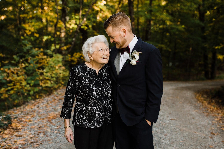 groom hugs his grandma - ottawa wedding photographer