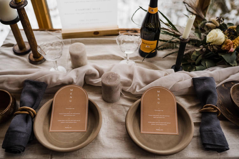 elopement tablescape details