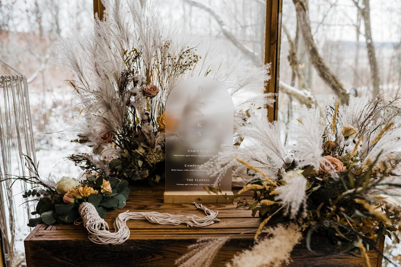 beautiful florals at boho elopement