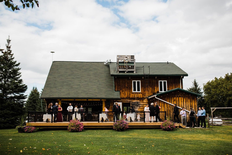 outdoor fall wedding - station 4 saisons wedding