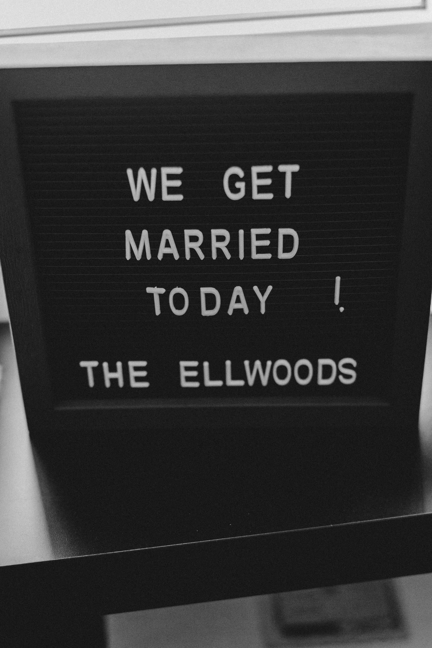letterboard sign - wedding countdown